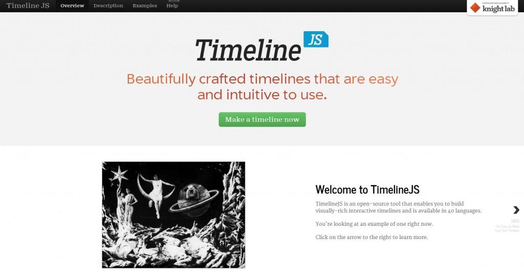 Biblioteca open source TimelineJS