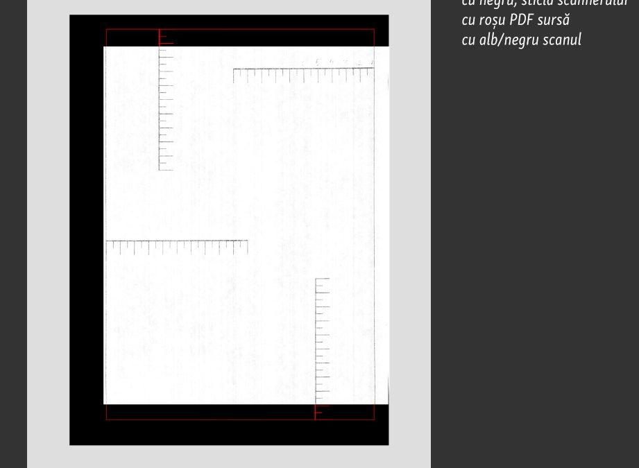 Suprafața activă la scanarea prin transparență