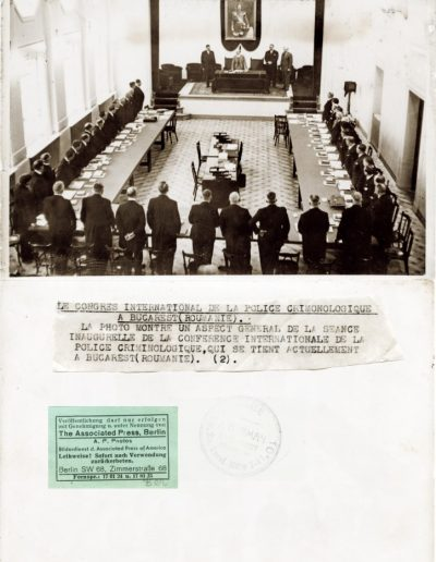 Congresul internațional de poliție criminologică la București (România)