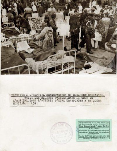 Incendiu la Spitalul Brâncovenesc din București (România)